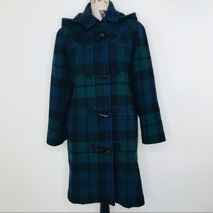 Talbots | Plaid Coat w/ Removable Hood (4)